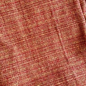 4 blackout curtain panels red & gold weave 42x84